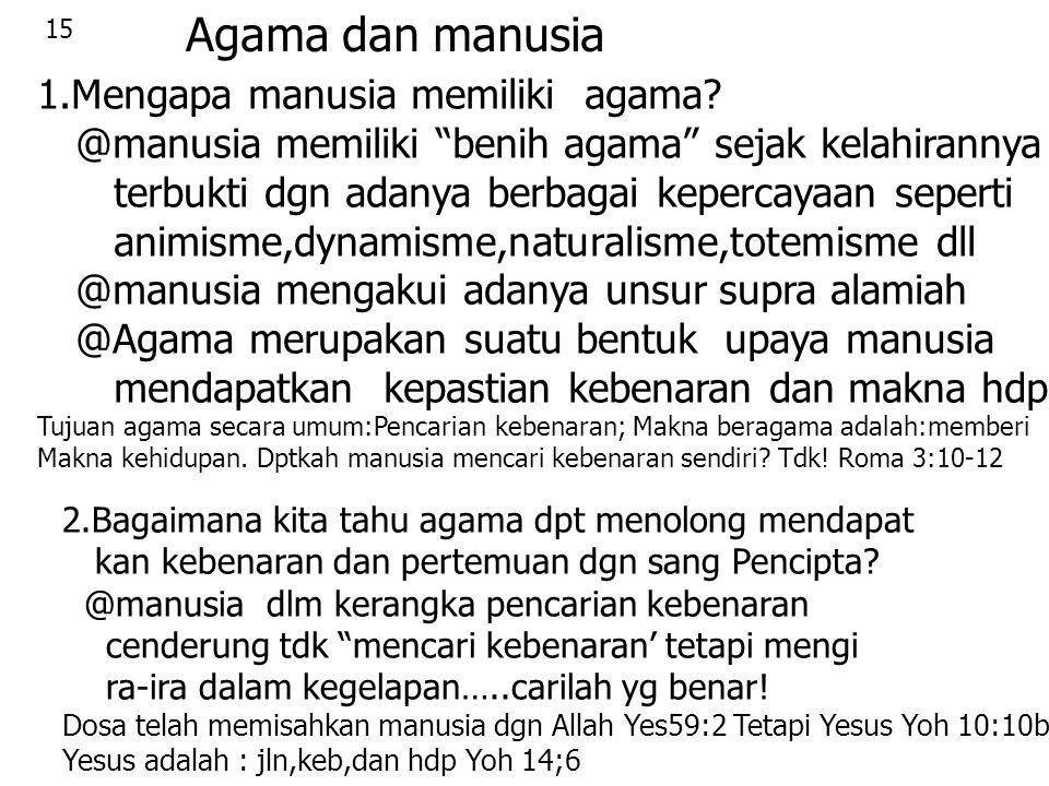 Agama dan manusia 1.Mengapa manusia memiliki agama