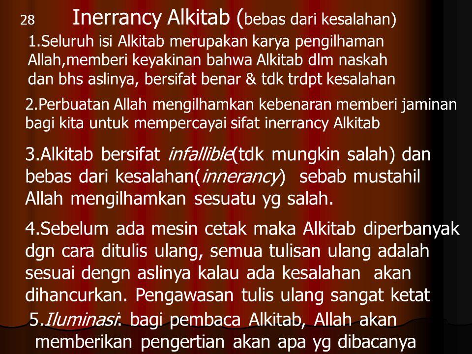 Inerrancy Alkitab (bebas dari kesalahan)