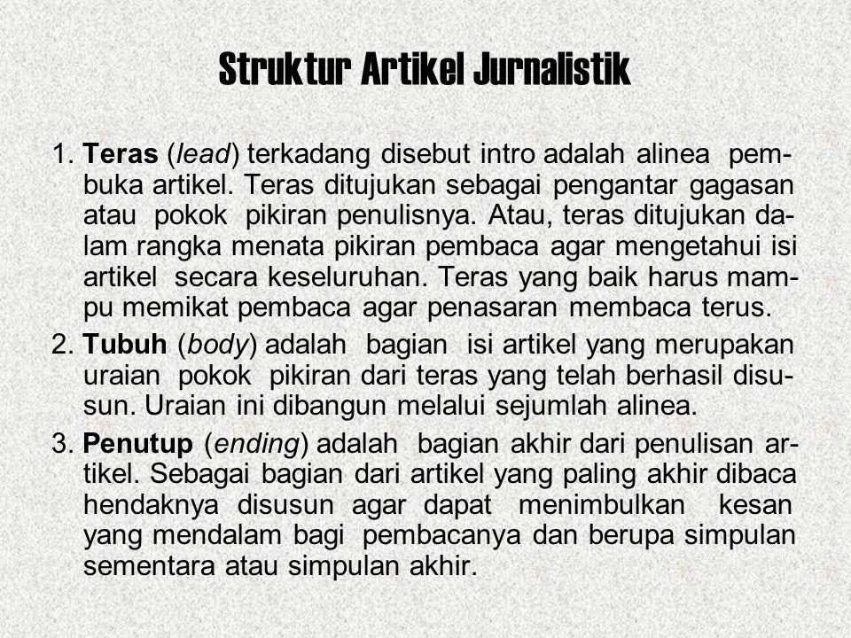 Struktur Artikel Jurnalistik
