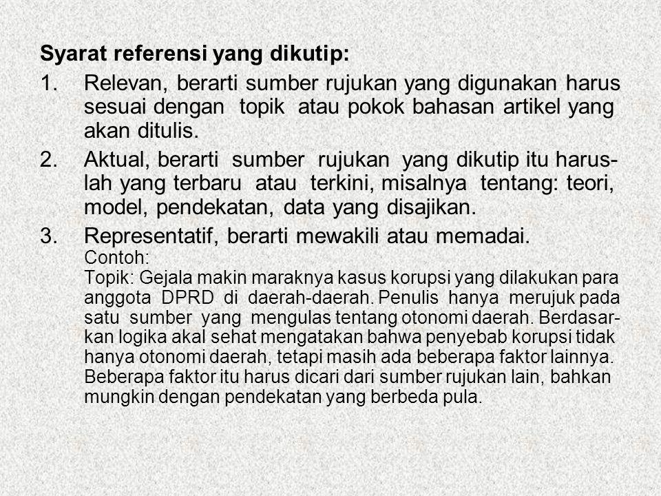 Syarat referensi yang dikutip: