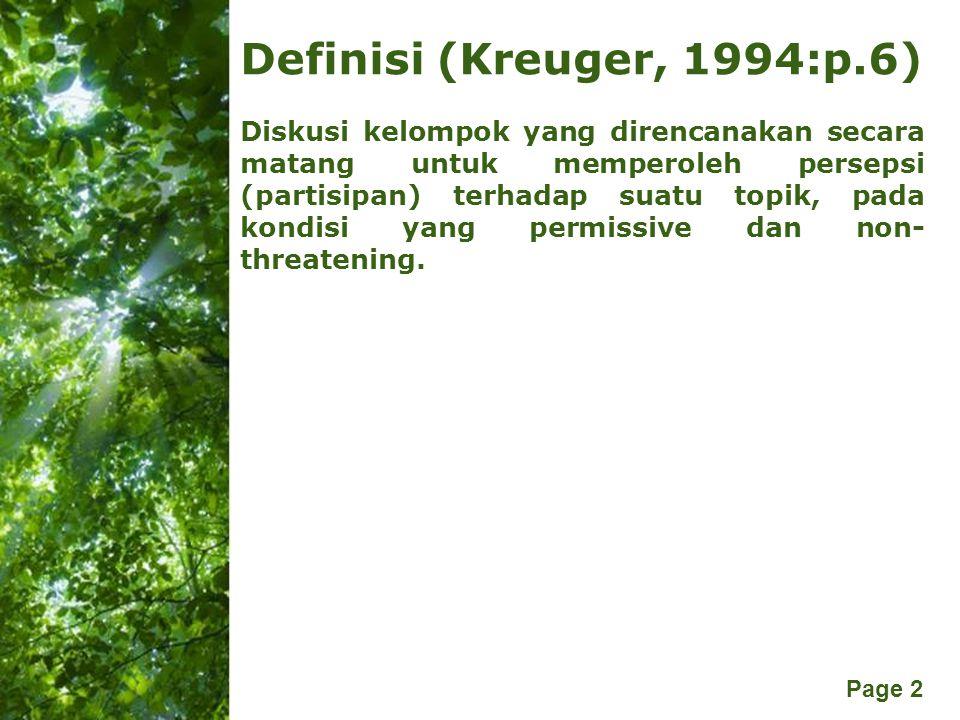 Definisi (Kreuger, 1994:p.6)