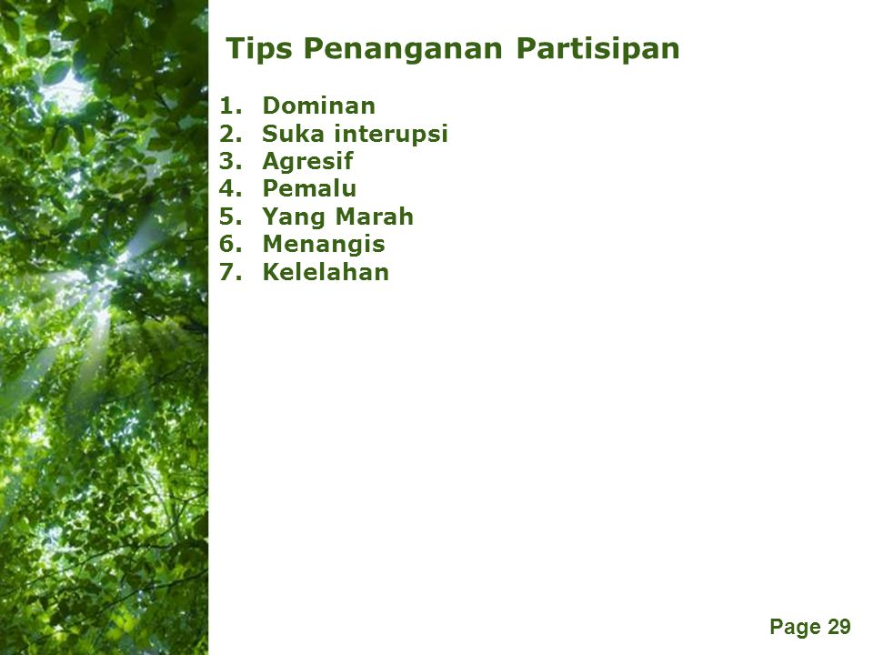 Tips Penanganan Partisipan