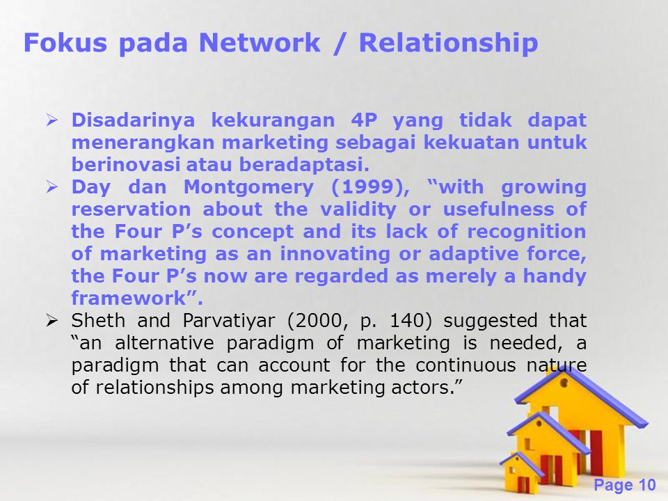 Fokus pada Network / Relationship