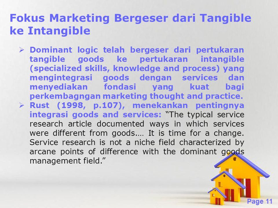 Fokus Marketing Bergeser dari Tangible ke Intangible