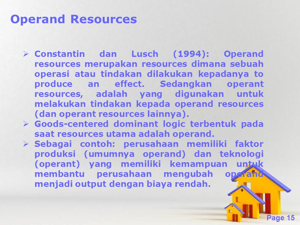 Operand Resources