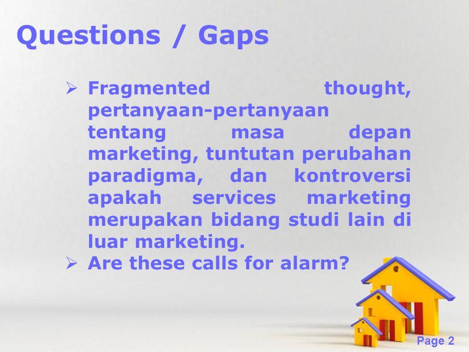 Questions / Gaps