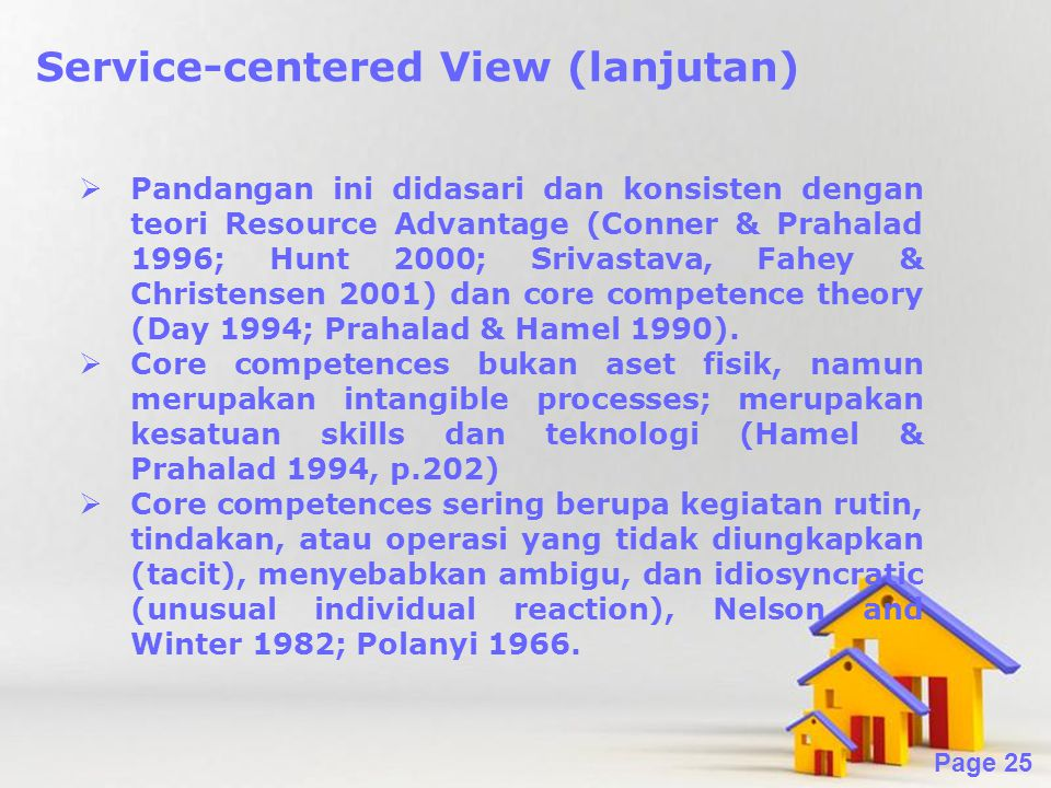 Service-centered View (lanjutan)