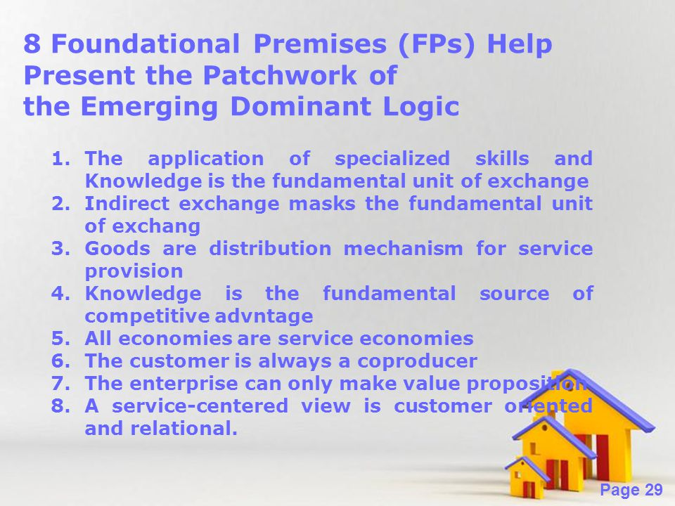 8 Foundational Premises (FPs) Help Present the Patchwork of