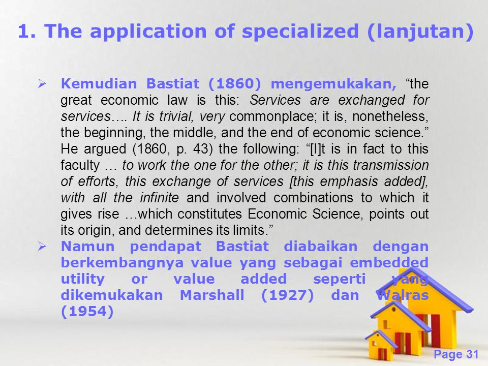The application of specialized (lanjutan)