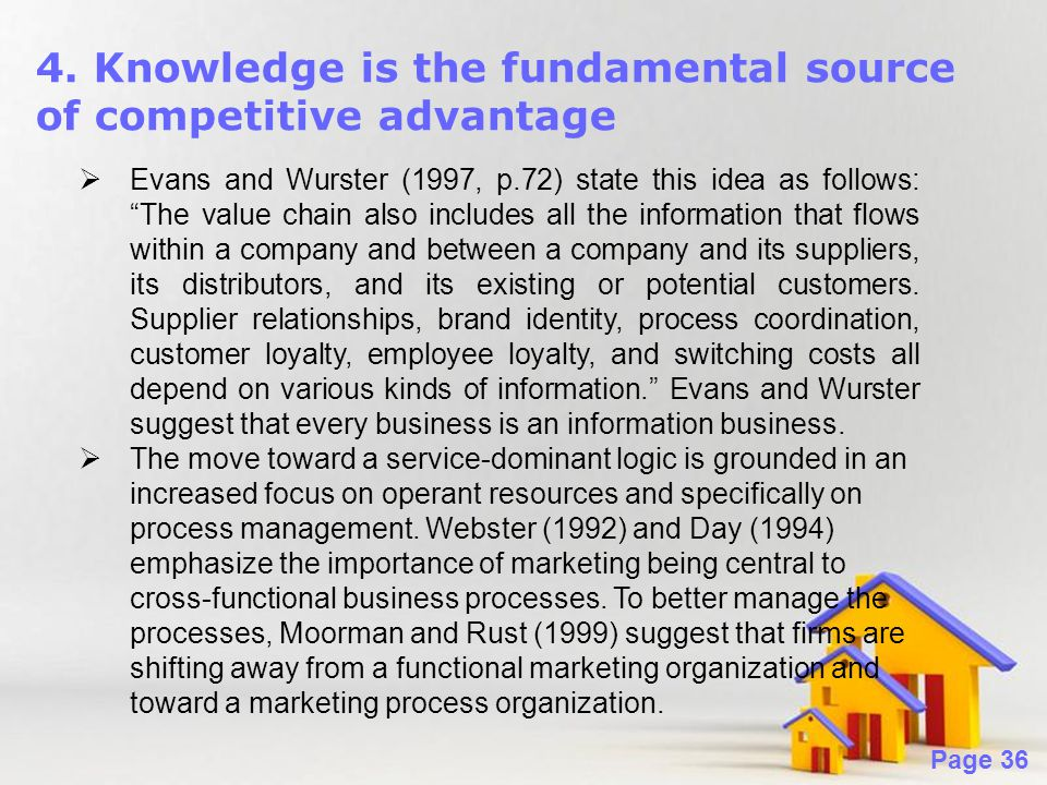 4. Knowledge is the fundamental source of competitive advantage