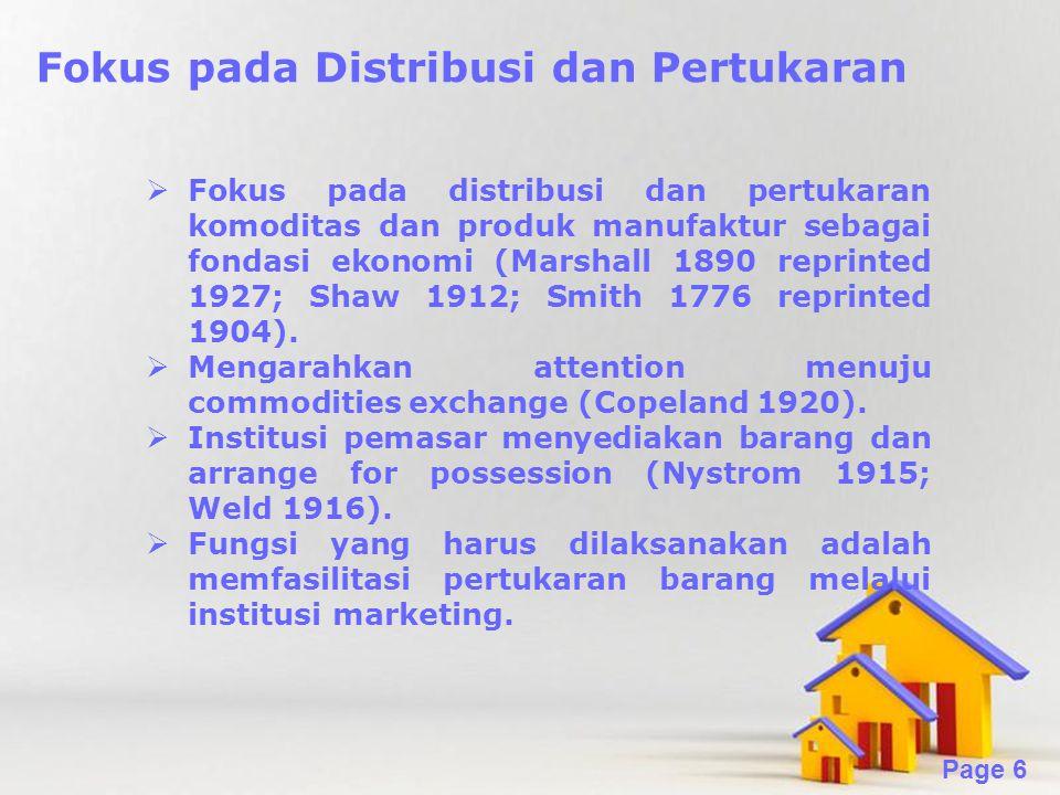 Fokus pada Distribusi dan Pertukaran
