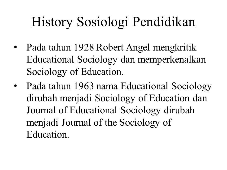 History Sosiologi Pendidikan