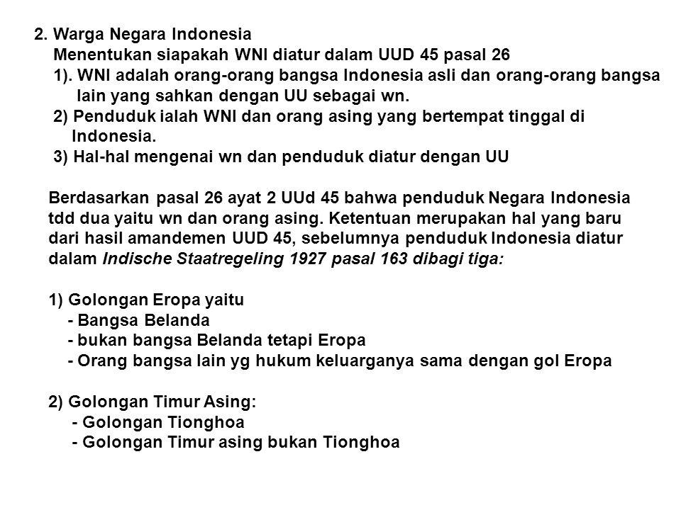 2. Warga Negara Indonesia