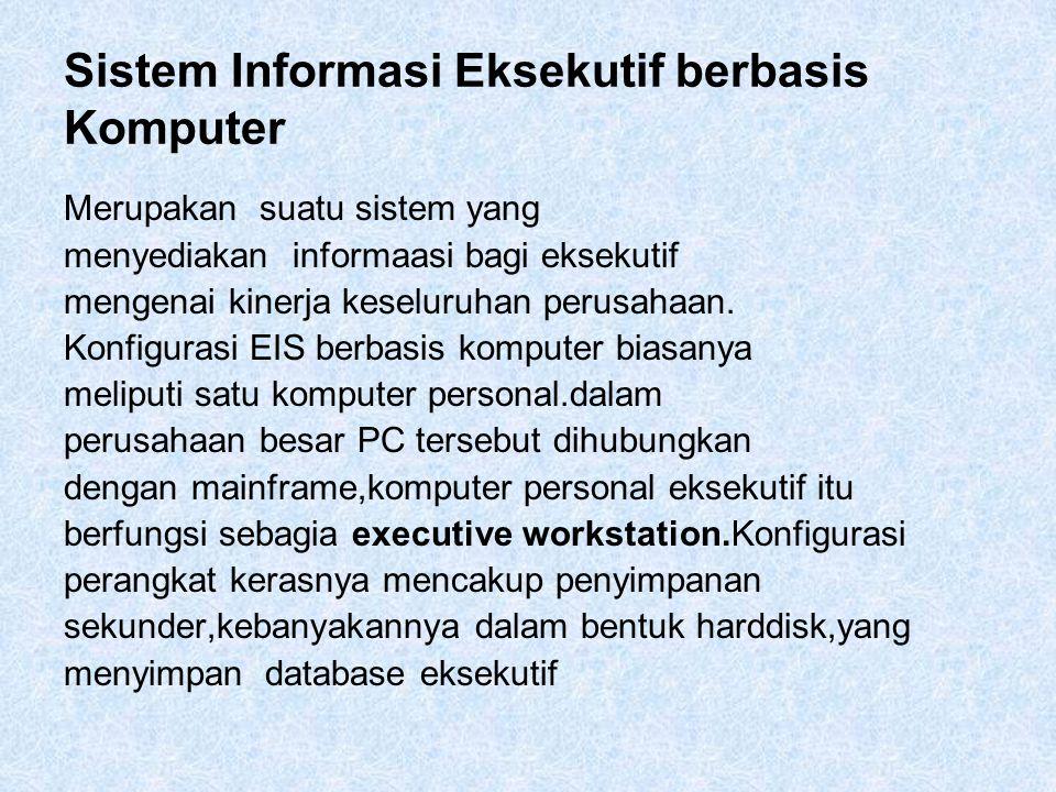 Sistem Informasi Eksekutif berbasis Komputer