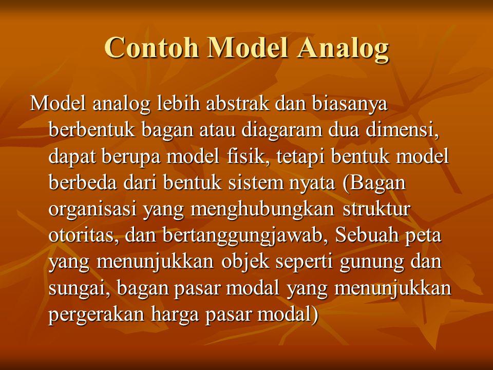 Contoh Model Analog