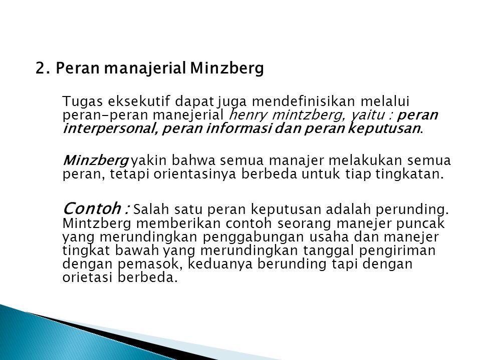2. Peran manajerial Minzberg