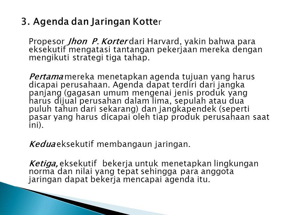 3. Agenda dan Jaringan Kotter
