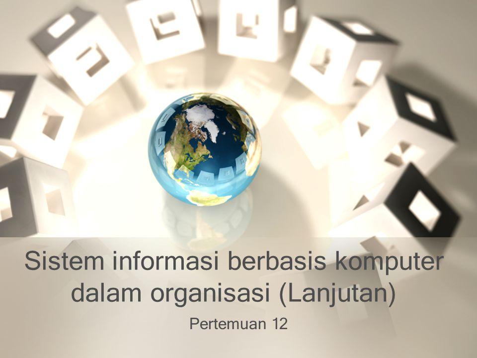 Sistem informasi berbasis komputer dalam organisasi (Lanjutan)
