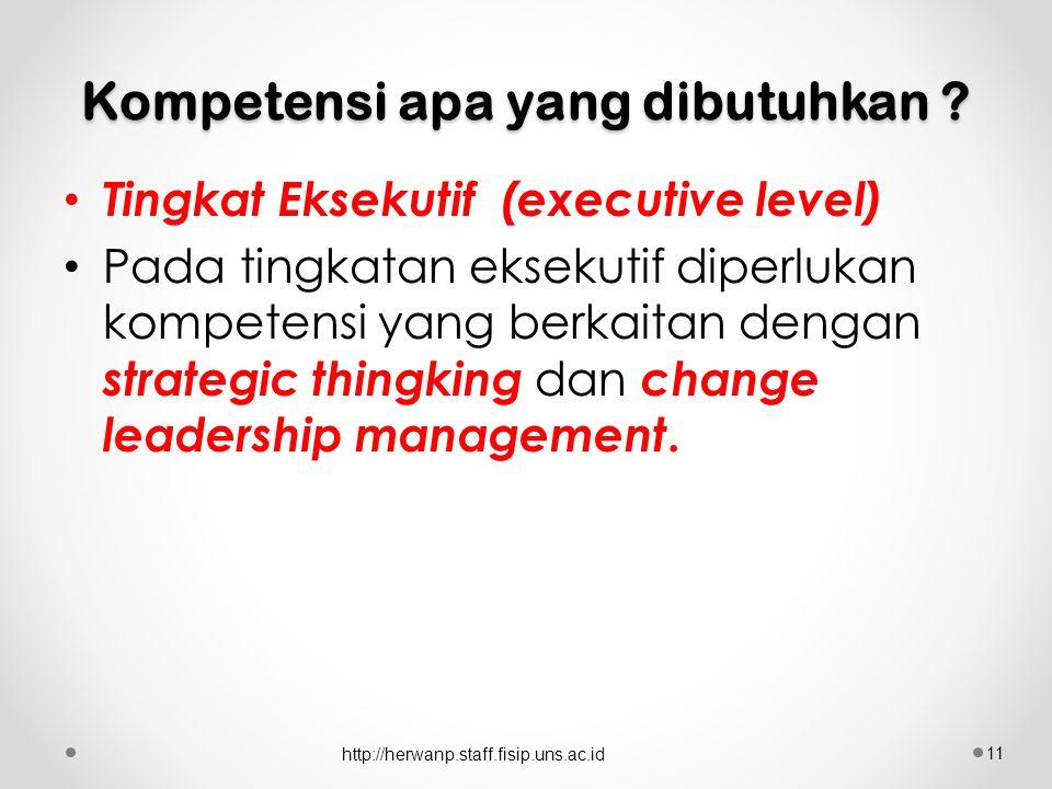 Kompetensi apa yang dibutuhkan