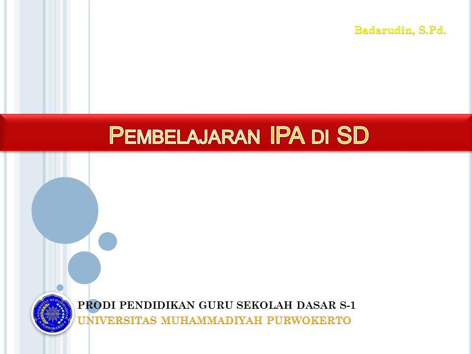 Pembelajaran IPA di SD Badarudin, S.Pd.