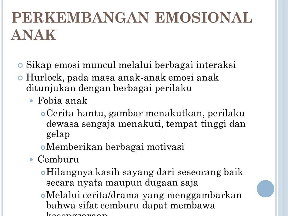 PERKEMBANGAN EMOSIONAL ANAK