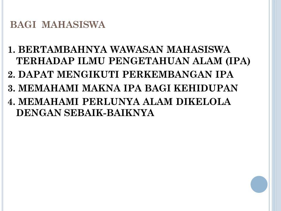 BAGI MAHASISWA