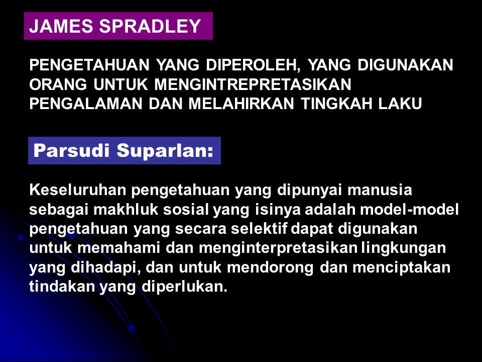 JAMES SPRADLEY Parsudi Suparlan:
