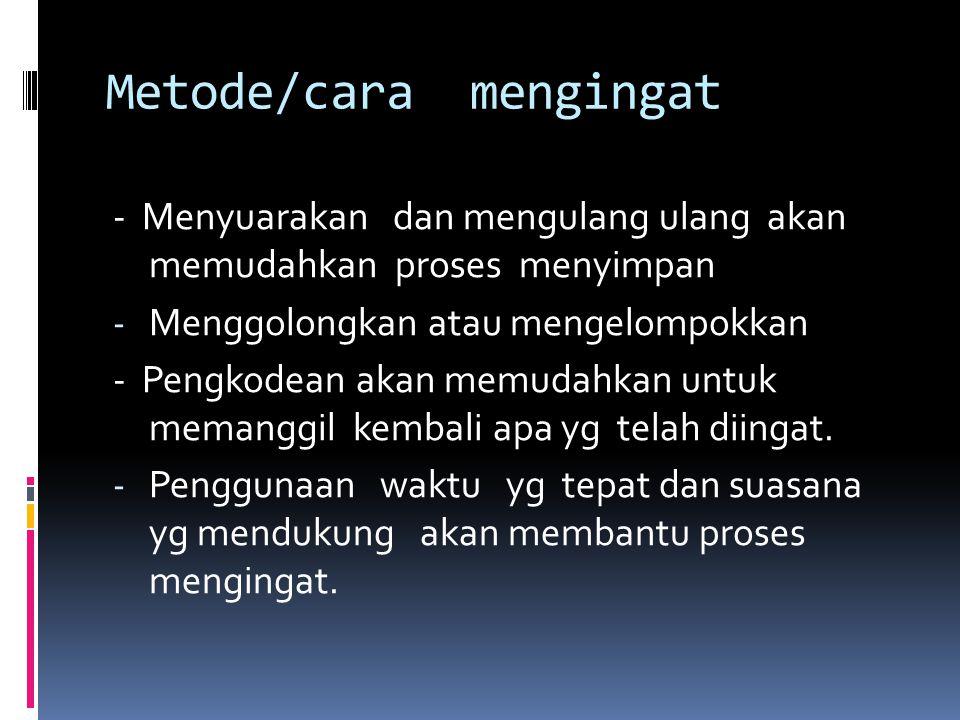 Metode/cara mengingat