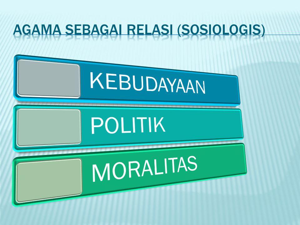 AGAMA SEBAGAI RELASI (SOSIOLOGIS)