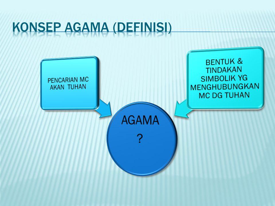 KONSEP AGAMA (DEFINISI)