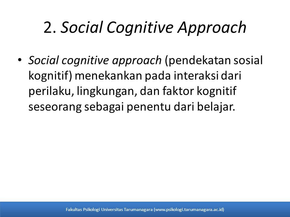 2. Social Cognitive Approach