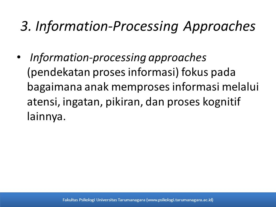 3. Information-Processing Approaches