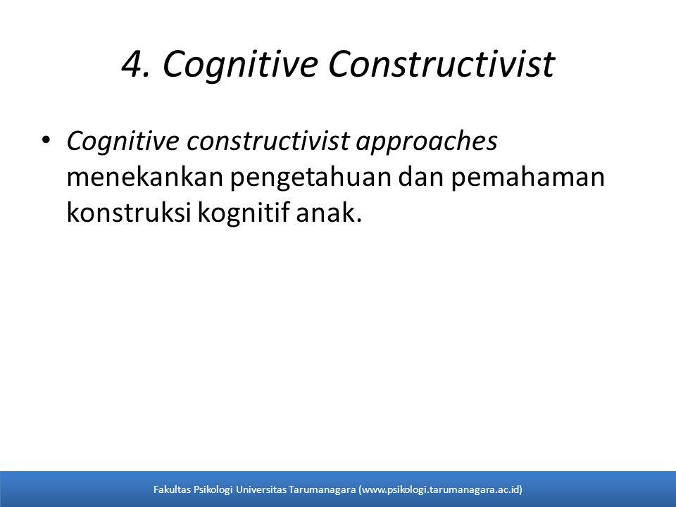 4. Cognitive Constructivist