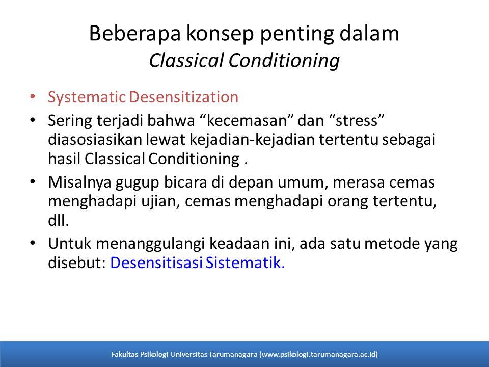Beberapa konsep penting dalam Classical Conditioning
