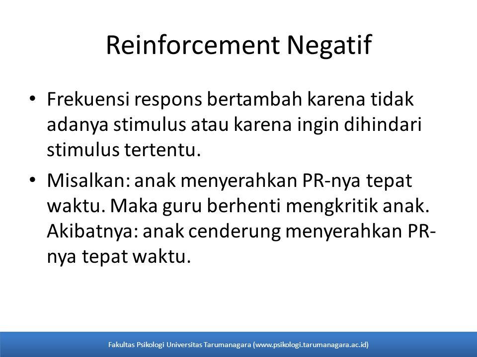 Reinforcement Negatif
