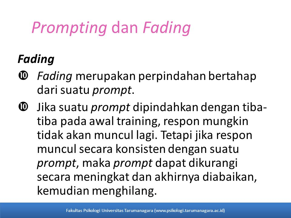 Prompting dan Fading Fading