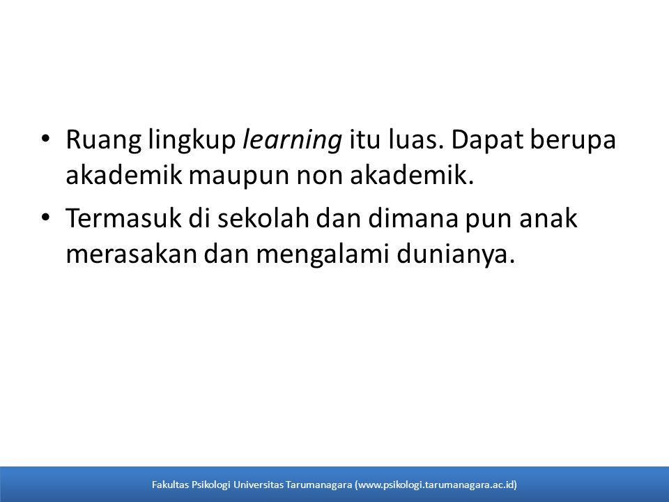 Ruang lingkup learning itu luas