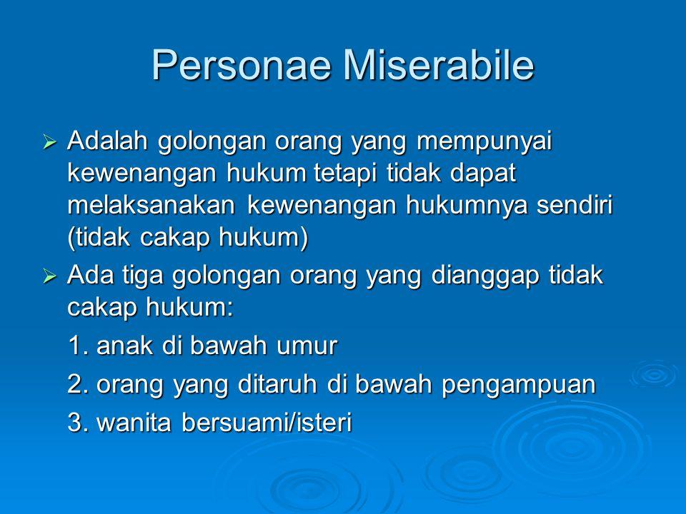 Personae Miserabile