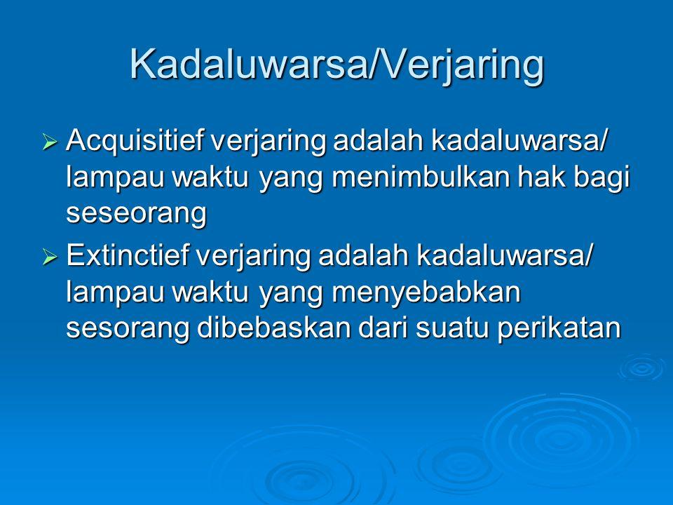 Kadaluwarsa/Verjaring
