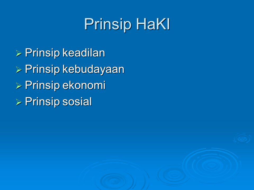 Prinsip HaKI Prinsip keadilan Prinsip kebudayaan Prinsip ekonomi