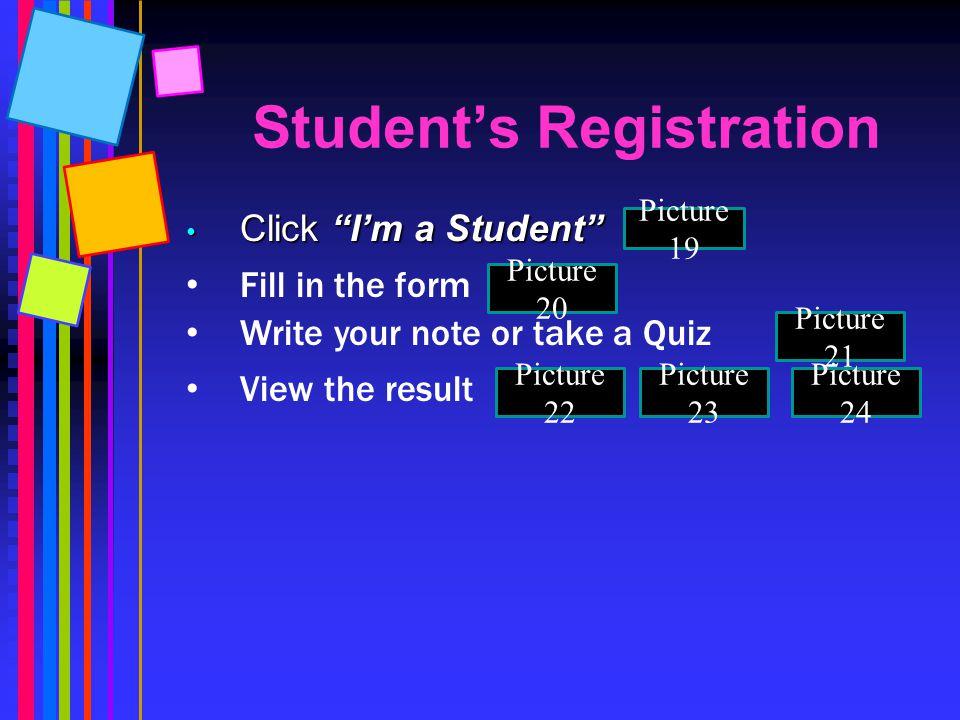 Student's Registration