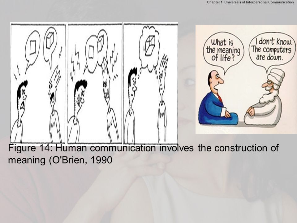Figure 14: Human communication involves the construction of meaning (O Brien, 1990