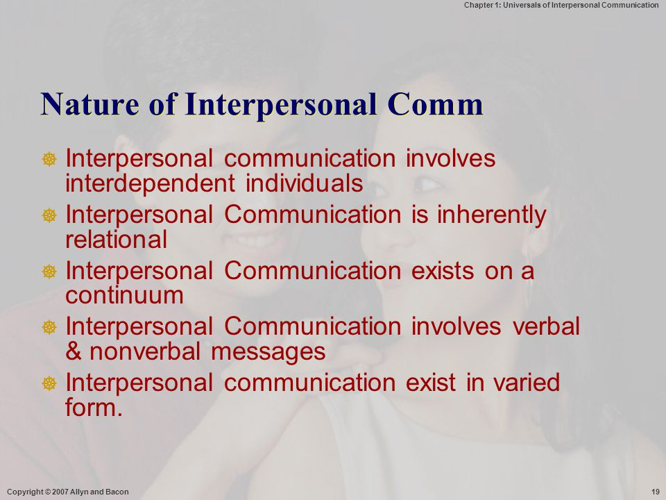 Nature of Interpersonal Comm