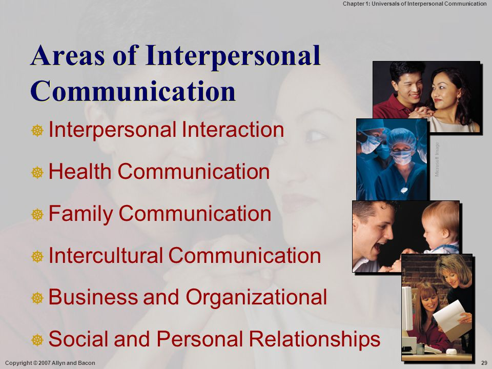 Areas of Interpersonal Communication