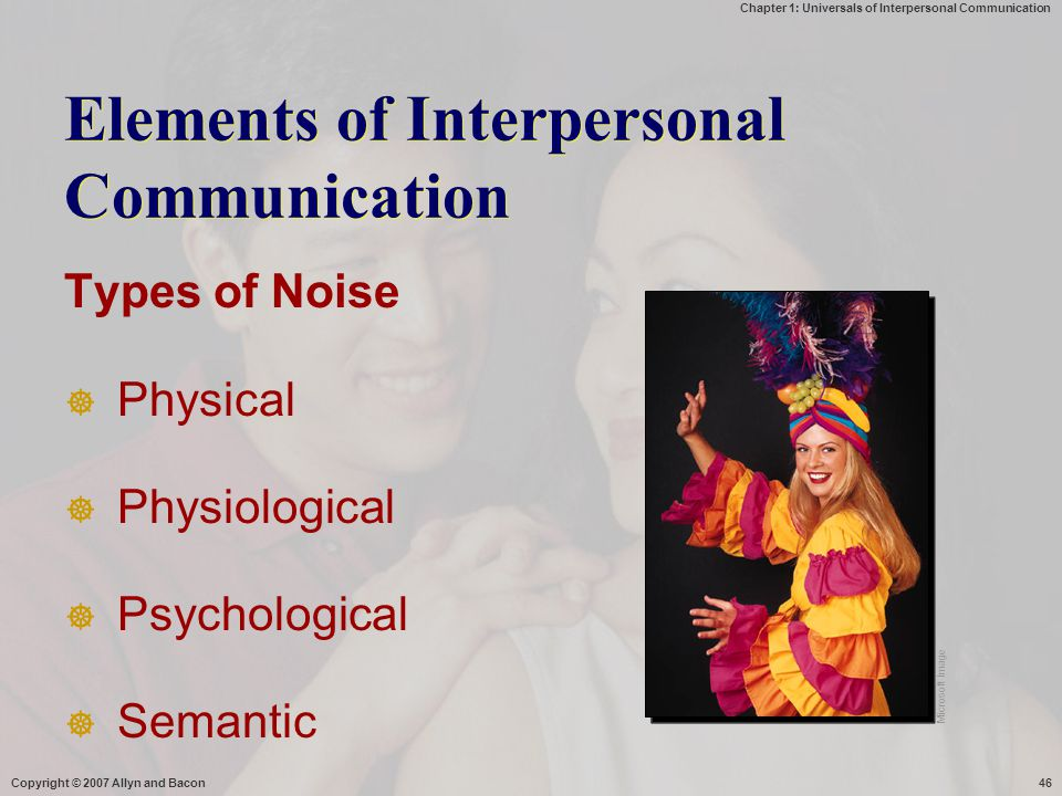 Elements of Interpersonal Communication