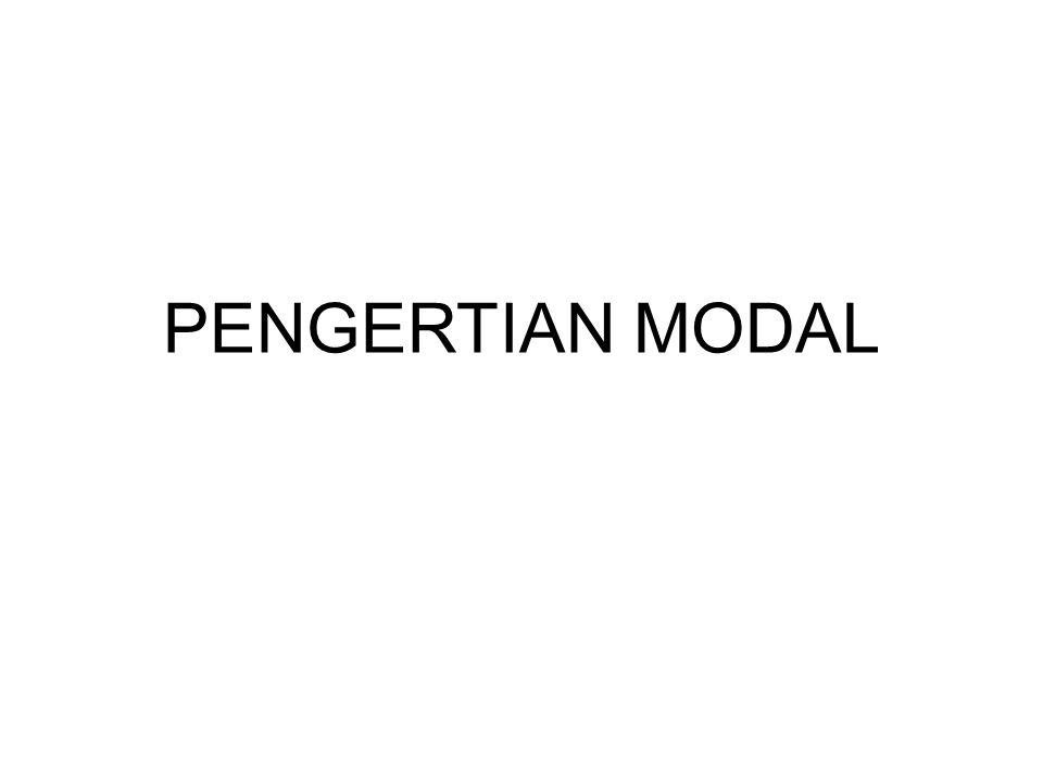 PENGERTIAN MODAL