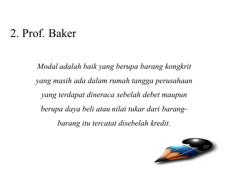 2. Prof. Baker