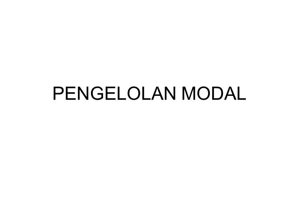 PENGELOLAN MODAL