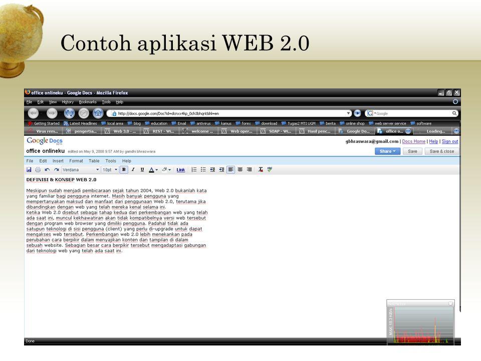 Contoh aplikasi WEB 2.0