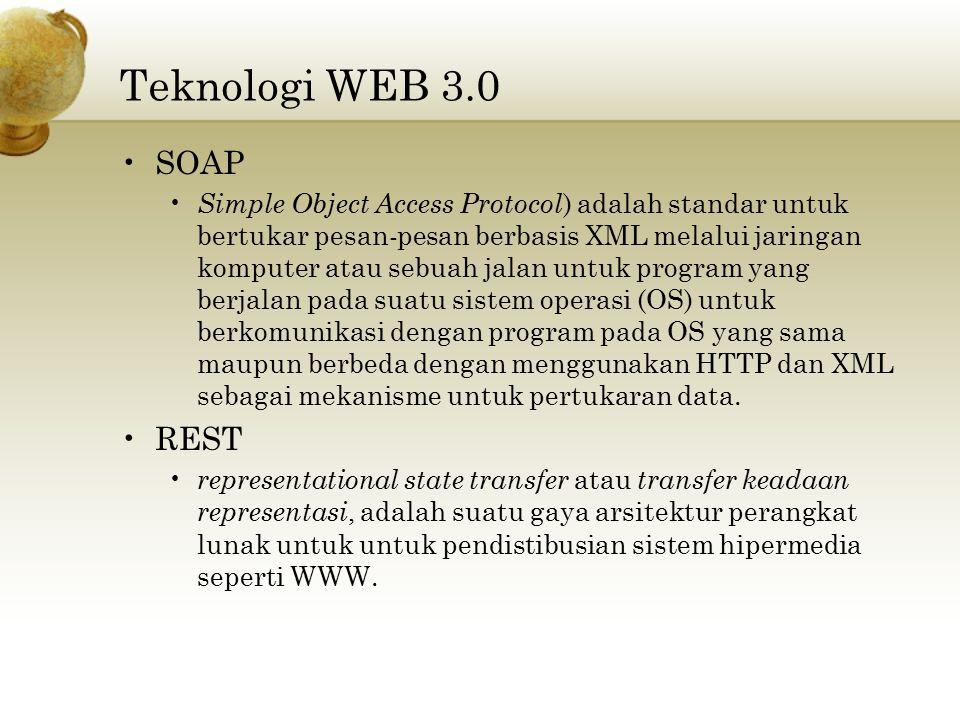 Teknologi WEB 3.0 SOAP REST
